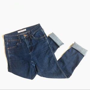 Denim - J Brand Skinny Crop Jeans in Pure